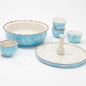 Floral Lace 6-Piece Bake and Appetizer Set